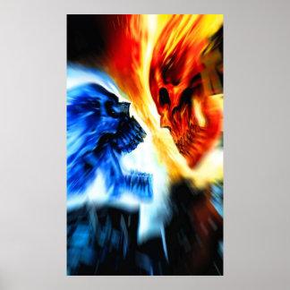Poster de la rivalidad del cráneo