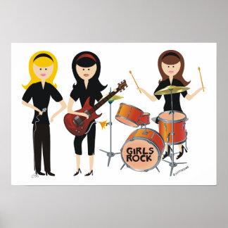 Poster de la roca de los chicas póster
