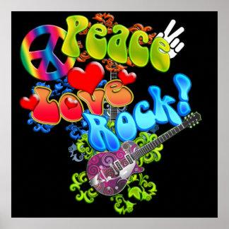 Poster de la roca del amor de la paz