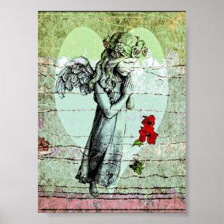 Poster de la rogación y del corazón del ángel póster