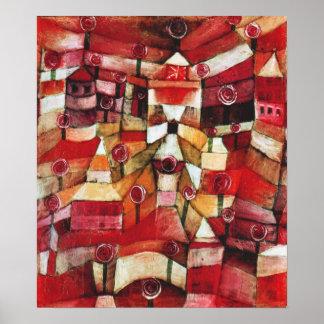 Poster de la rosaleda de Paul Klee