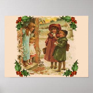 Poster de la rotura del navidad de los niños del V