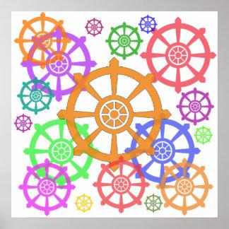Poster de la rueda de Dharma
