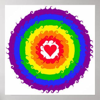 Poster de la rueda del arco iris