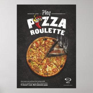 Poster de la ruleta de la pizza póster
