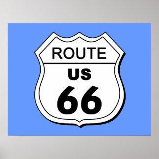 Poster de la ruta 66