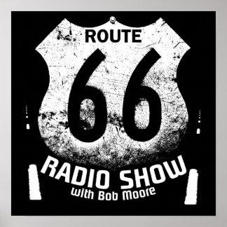 Poster de la ruta 66 de la radio de la despedida