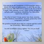 Poster de la sabiduría del abuelo
