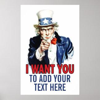 Poster de la sala de clase: Añada su texto aquí Póster