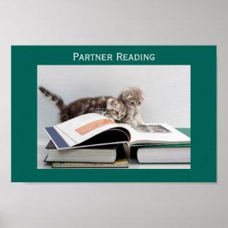 Poster de la sala de clase de la lectura del socio