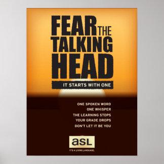 Poster de la sala de clase del ASL. Tema a la
