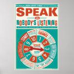 Poster de la sala de clase del idioma extranjero (