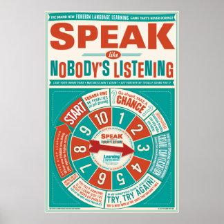 Poster de la sala de clase del idioma extranjero