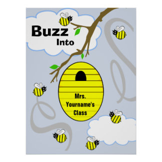 Poster de la sala de clase del profesor - abejas y