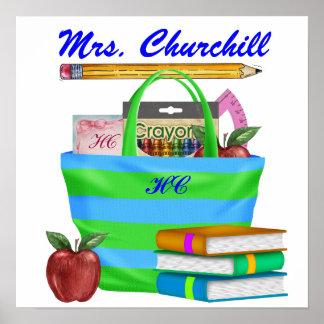 Poster de la sala de clase del profesor de escuela
