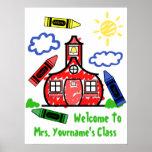 Poster de la sala de clase del profesor - escuela