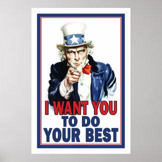 Poster de la sala de clase: Quisiera que usted