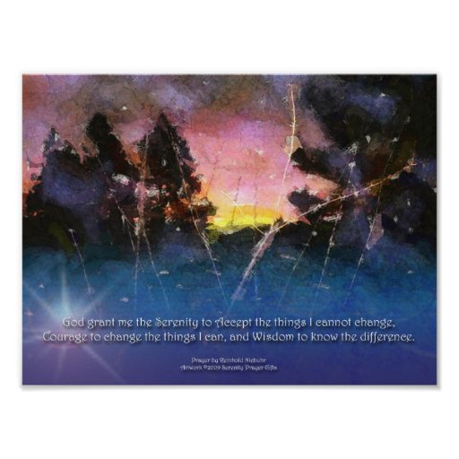 Poster de la salida del sol de la acuarela del rez