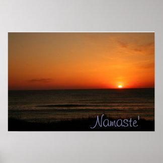 Poster de la salida del sol de la playa de Namaste