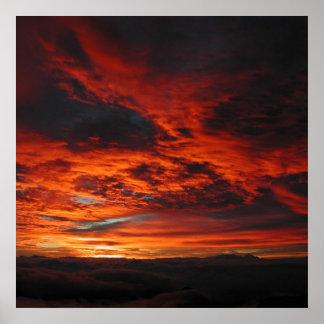 Poster de la salida del sol del Mt. Haleakala Hawa