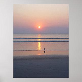 Poster de la salida del sol del océano de Daytona