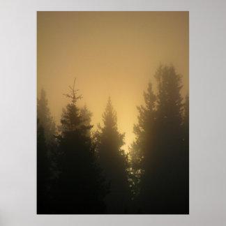 Poster de la salida del sol del otoño
