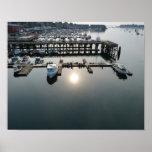 Poster de la salida del sol del puerto de Beverly