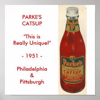 Poster de la salsa de tomate de Parke