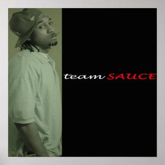 Poster de la salsa del equipo