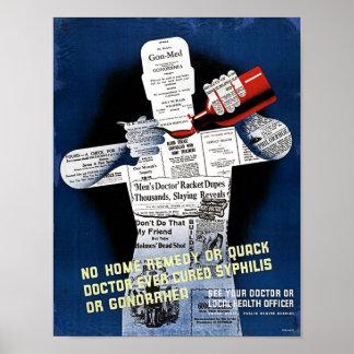 Poster de la salud pública del vintage