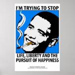 Poster de la sátira de la política de Barack Obama