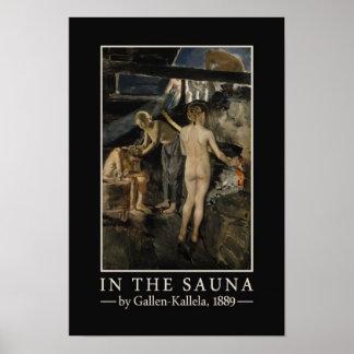 Poster de la sauna de Gallen-Kallela