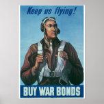 Poster de la Segunda Guerra Mundial del vintage