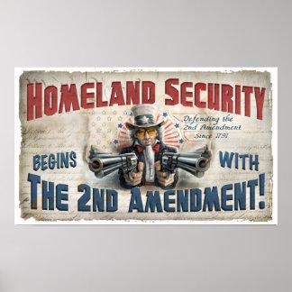 Poster de la seguridad de patria