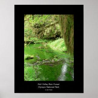 Poster de la selva tropical del valle de Hoh (corr