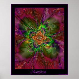 Poster de la selva tropical - frontera púrpura póster