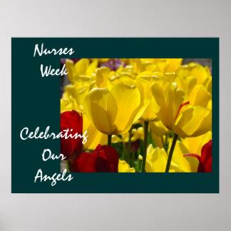 Poster de la semana de las enfermeras que celebra