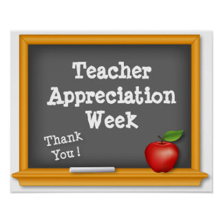 ¡Poster de la semana del aprecio del profesor, gra