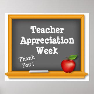 ¡Poster de la semana del aprecio del profesor, Póster
