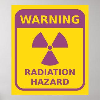 Poster de la señal de peligro de la radiación