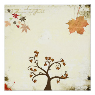 poster de la sensación del otoño