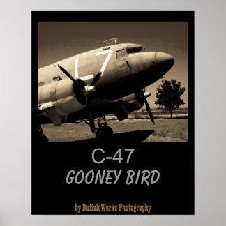 Poster de la sepia del C-47