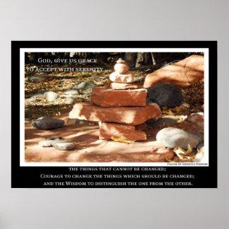 Poster de la serenidad de la recuperación de 12 pa