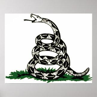 Poster de la serpiente de la bandera de Gadsden