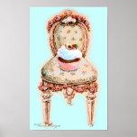 Poster de la silla de la magdalena y del Victorian