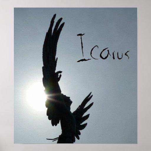Poster de la silueta de Ícaro