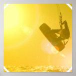 Poster de la silueta de Kitesurfing