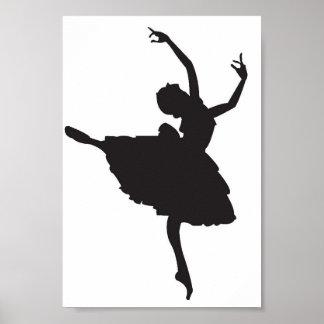 Poster de la silueta de la bailarina
