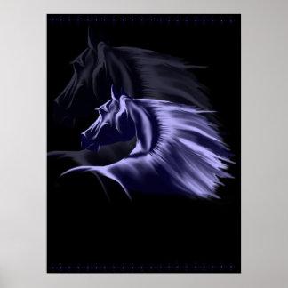 Poster de la silueta del caballo