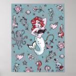 Poster de la sirena de Molly de la pelusa